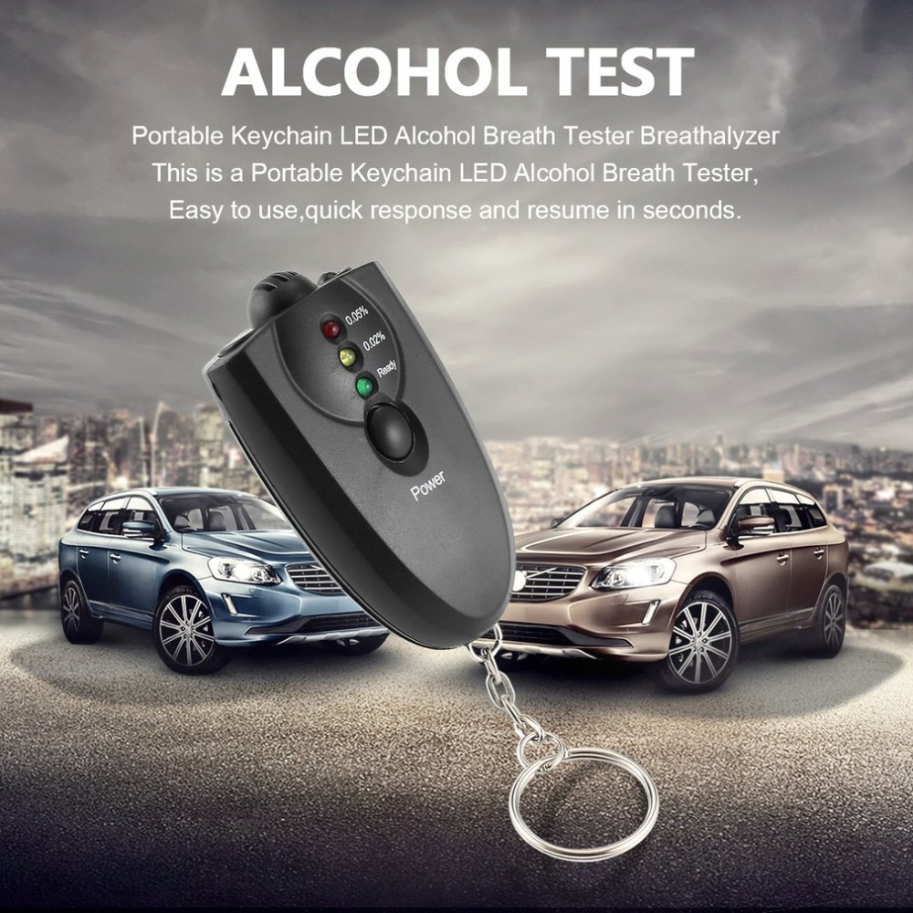 Professional Portable Keychain Design LED Alcohol Breath Tester Breathalyzer Alcohol Analyzer Diagnostic Tool Dfdf