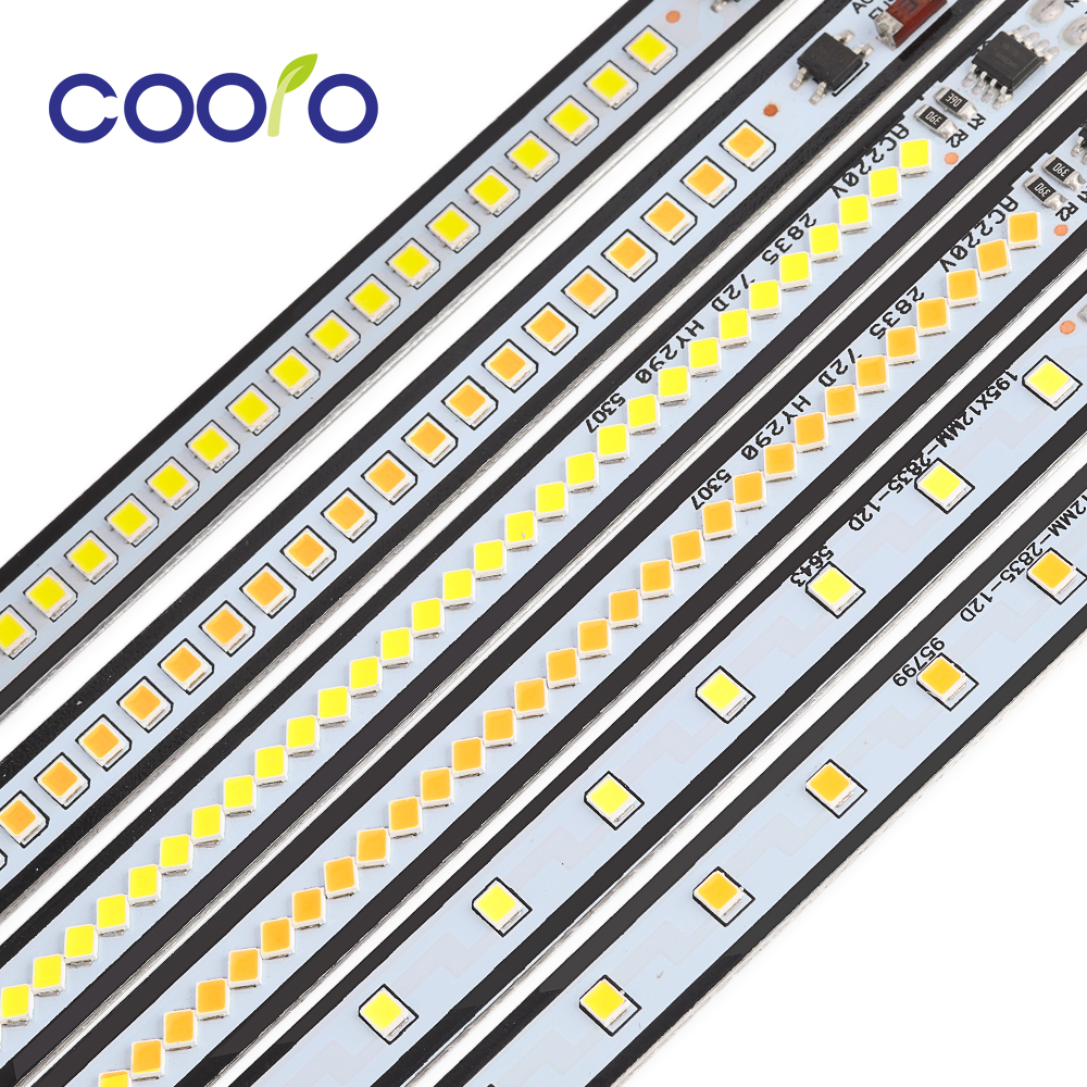 AC220V LED Bar Light High Brightness Backlight 19cm 29cm 39cm SMD 2835 LED Rigid Strip For Kitchen Cabinet Light 5 10 20pcs/lot