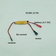 1S 2S 3S Micro 2 Chiều Chải ESC Điều Khiển Tốc Độ 3.5 4.8V 2A 5A cho RC Mini Xe Tăng Xe Thuyền Máy Bay 130/280/370 Động Cơ Phần