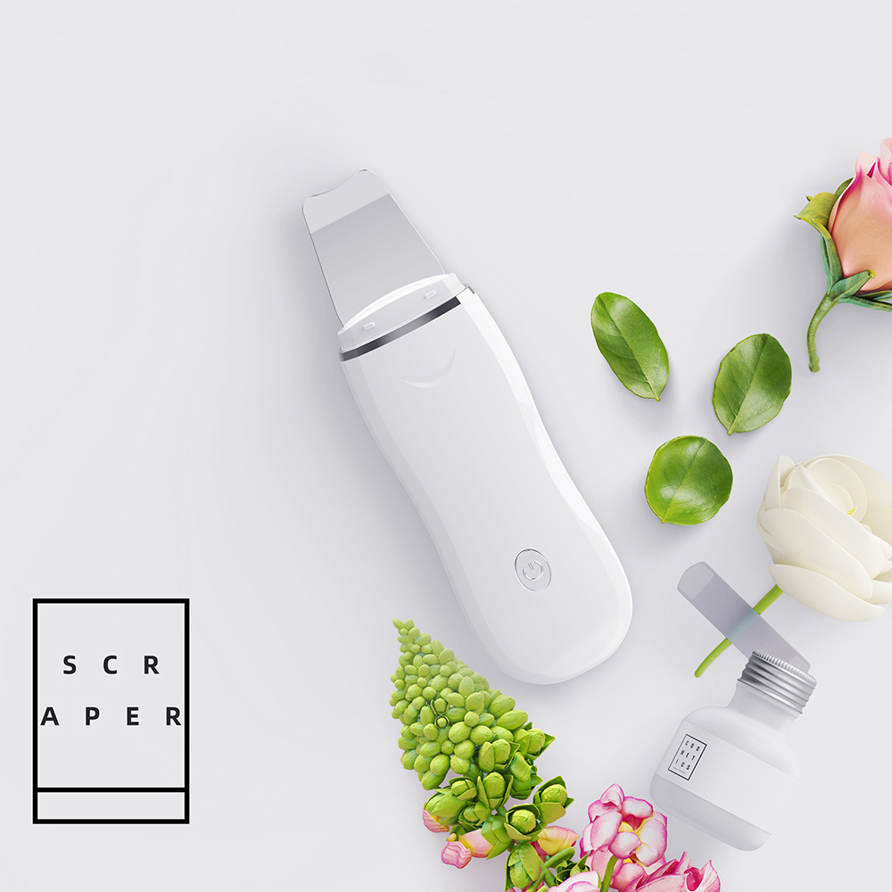 Ultrasonic Electric Face Scrubber Skin Peeling Extractor Tool Facial Deep Cleaning Beauty Device Rechargeable Skin Care Device