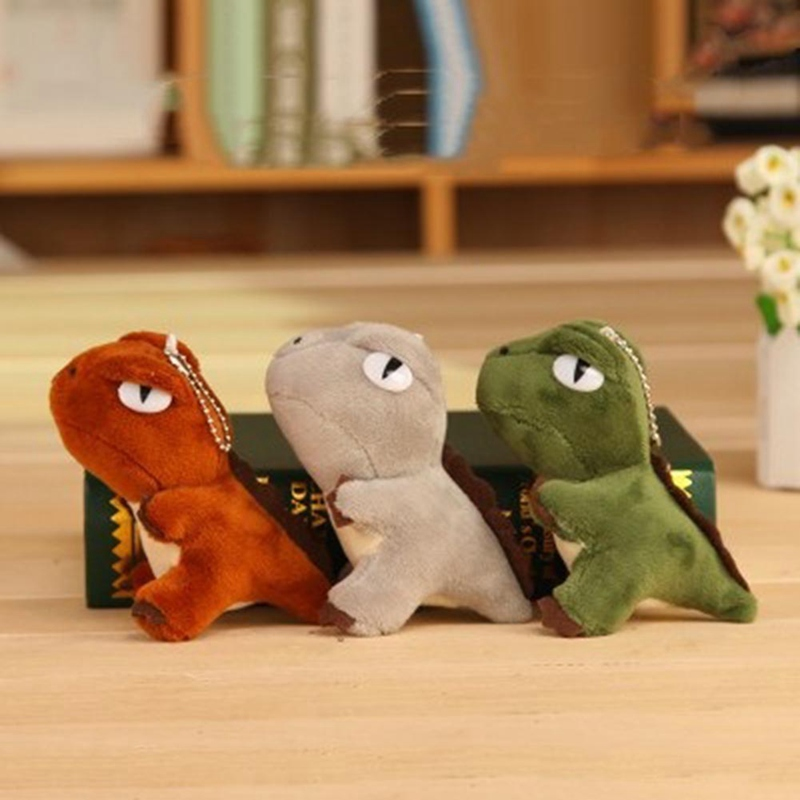 HOT 3 Colors Kawaii Mini Dinosaur Toy Dragon Plush Stuffed Toy 10CM Height Keychain Pendant Plush TOY DOLL