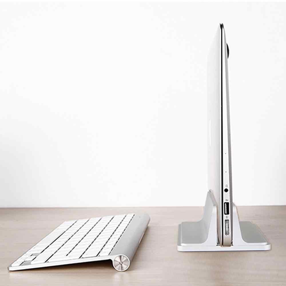 Dikey dizüstü standı Dock Macbook Air Pro 13 15 masaüstü alüminyum standı ayarlanabilir genişlik yüzey Chromebook Dock