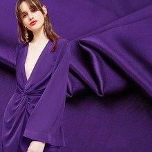 114cm width violet 40m pure silk heavy satin fabric mulberry silk dress fabric silk fabric heavy silk