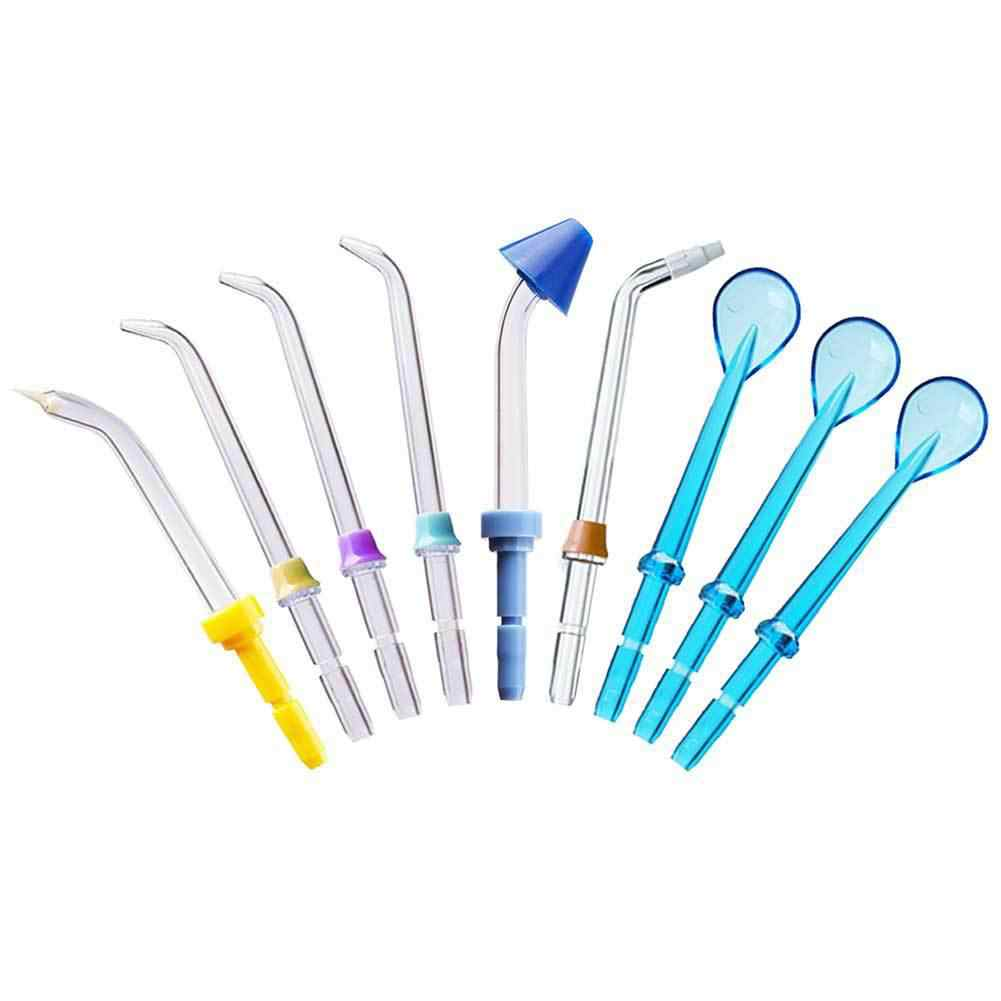 9PCS Top Most Thicken Oral Irrigator Accessorie Teeth Clean Nozzle Kit For Mouth Care Full Function Better Than Similar goods 3p