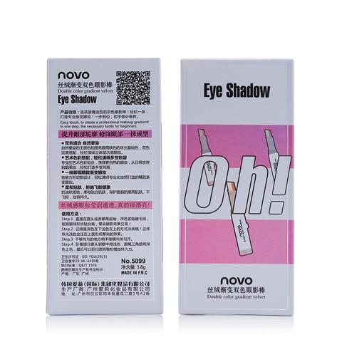 NOVO Eye Makeup Shimmer Earth Color Eye Shadow Cream Pen Double Color Stereo Gradient Velvet Eyeshadow Stick Sombra Islamabad