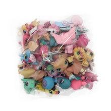 20Pcs/lot Q Cute Doll Model Toy Bag Little Pet Shop Mini Animal Cat Patrulla Canina Dog Ornaments