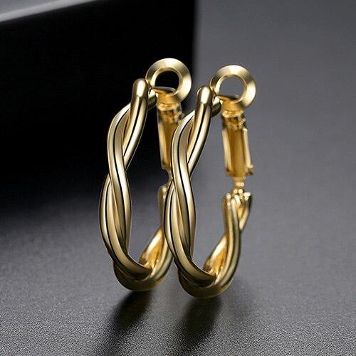LUOTEEMI-Minimalist-Twist-Type-Round-Earrings-for-Women-Girls-Party-Dating-Korean-Femme-Fashion-Jewelry-Brincos (6)