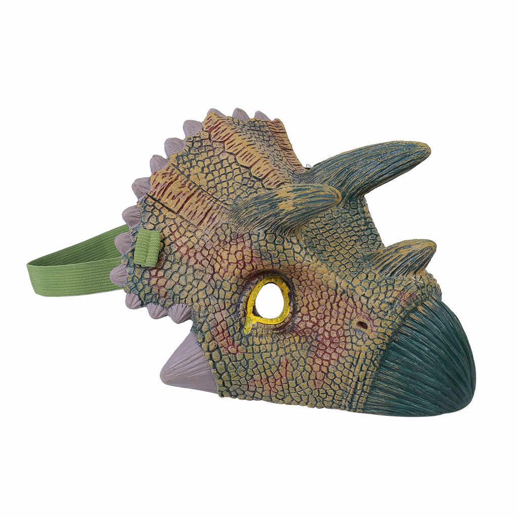 怖いティラノサウルスレックスハロウィンリアルなジュラ紀世界恐竜マスク子動物コスプレ衣装パーティー用品 j1009
