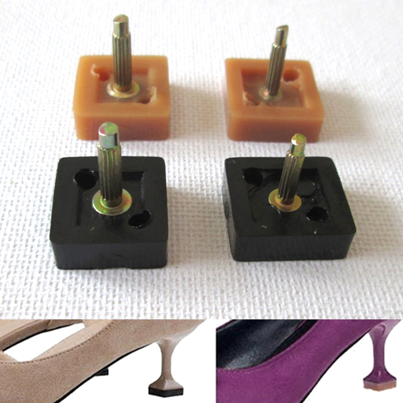 Women's High Heel Tips Nail Square High Heel Nail Thickness Wearable Mute Thick Nails Pop Cat Heel Spikes Shoe Heels Repair Tips