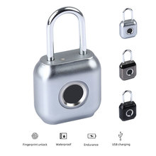 Fingerprint Padlock Door Waterproof USB IP66 Rechargeable