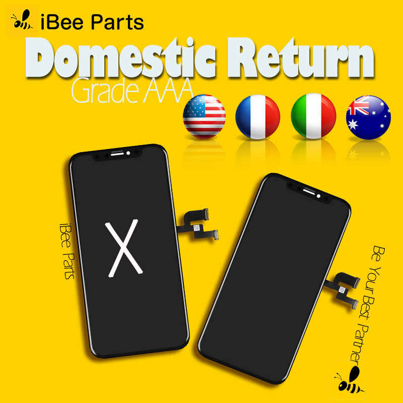 IBee อะไหล่ 1PCS AMOLED หน้าจอ OLED สำหรับ iPhone X XS MAX XR LCD Touch Screen ASSEMBLY REPLACEMENT เย็นกรอบ