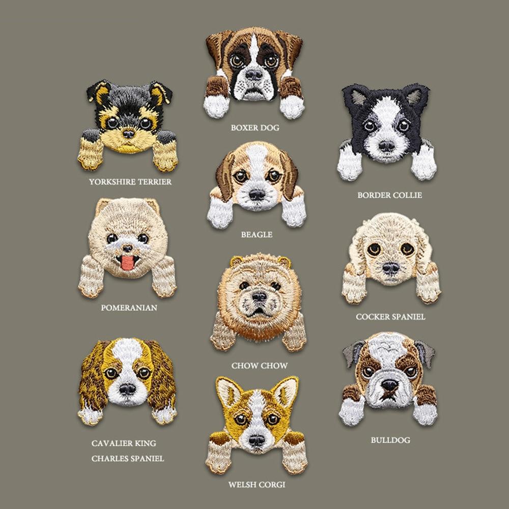 Kreskówka pies haftowane naszywki Chihuahua Shiba żelazko na łacie aplikacja śliczne mini naklejki na ubrania