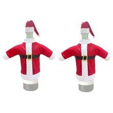 2 шт Санта пальто и шляпа крышка бутылки вина красный белый