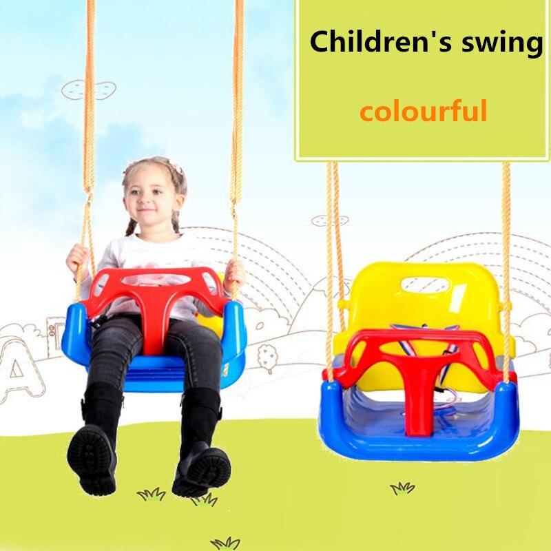 3 en 1 enfants balançoire chaise bambin balançoire siège détachable bébé balançoire pour Parent-enfant interactif infantile maison balançoire extérieure