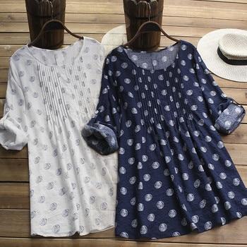 Loose Linen Maternity Print Dresses Vestidos Clothes-for-fat-women Pregnant Women Long Sleeve Pregnancy Clothing Plus Size S-5XL