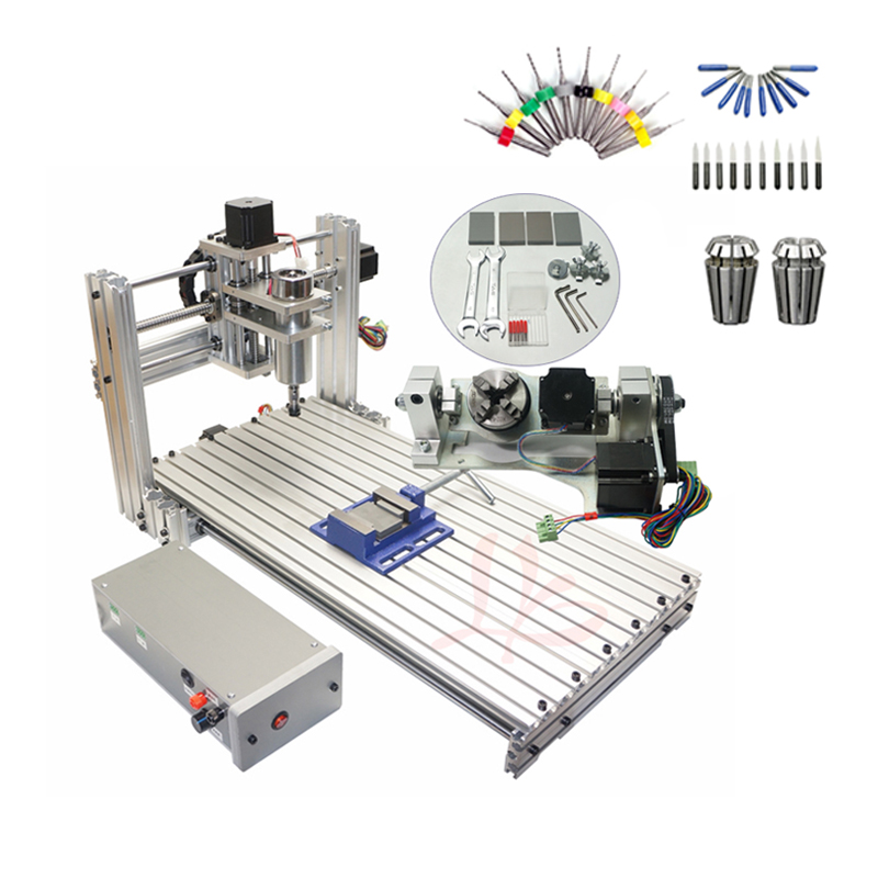 DIY CNC 3060 Engraving Machine 400W Wood Milling Router 6030 Ball Screw Cutting Engraver Lathe Frame 3 4 5 Axis With ER11 Drills