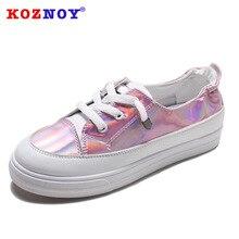 Koznoy Small White Shoes Spring Thick Bottom Dropshipping Female Ins Canvas Korean Version Students Fashion Single