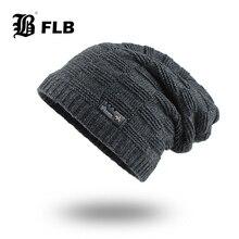 [FLB] зимняя мужская шапка Skullies Beanies, Осенние вязаные шапки, мягкая вязаная шапка, мужская вязаная шапка с геометрическим рисунком, шапка s F18080