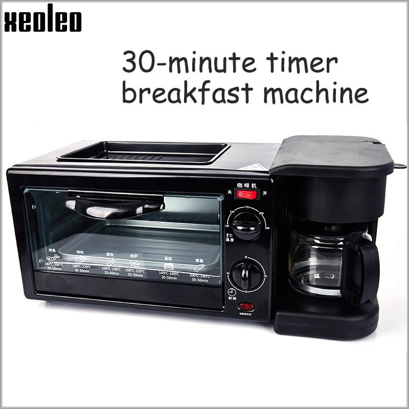 XEOLEO 3in1 Breakfast machine Coffee maker Household Electric Bake bread/Egg tart oven Multifunction Fried Bacon/Egg Machine