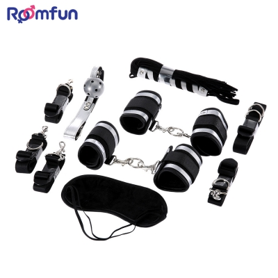 5in1 Bedroom Restraint Kit Cuffs Whip SM Product Adult Chastity Female Bdsm Bondage Sex Tools For Sale Slave Fetish Sexy Sextoy