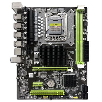 X58 PC Computer Desktop Motherboard LGA1366 CPU Interface DDR3 MSATA V1.6 Mainboard Systemboard X5660 5670cpu x58 desktop pc motherboard lga 1366 quad core e55400 cpu 8g memory mute fan computer main board ddr3 ram