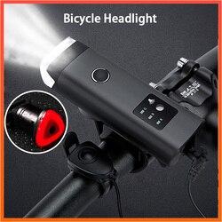 Latarnia na USB z akumulatorem lampa z klaksonem 350 lumenów latarka na rower niemiecki standardowy antyodblaskowy rower indukcyjny przednie światła