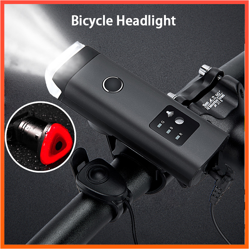 USB Rechargeable Lantern Lamp with Horn 350 Lumen <font><b>Flashlight</b></font> <font><b>for</b></font> <font><b>Bicycle</b></font> German Standard Anti-glare Induction Bike Front Light image