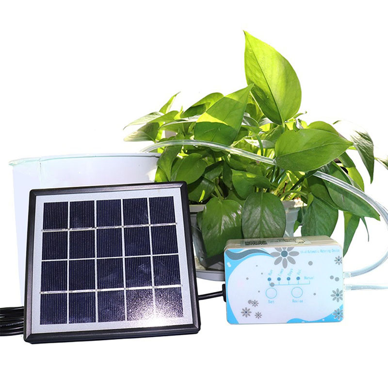 Solar Automatic Watering Device Home Potted Plants Timing Drip Irrigation Gardening Tools E2S|Garden Sprinklers| |  - title=