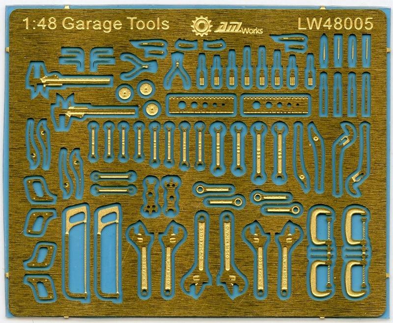 Механические инструменты в масштабе 1:48, бесконцевой фотограф, размер Лада 4x4 см, травочный лист LW48005