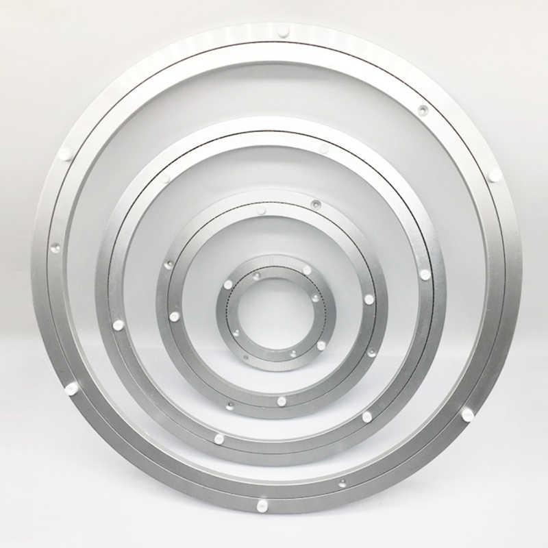 plateau tournant en aluminium plaque pivotante ronde pour table restaurant base universelle en verre