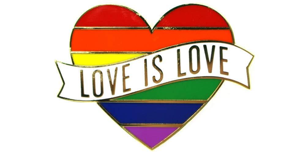 Шпилька для лацканов с радужным флагом, сердцем, гей-шпильки «Love is Love», эмалированная Шпилька, украшение, идеально подходит для фестивалей г...