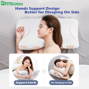 Image 5 - Purenlatex 2 Pcs Set Contour Orthopedic Memory Foam Cervical 14cm Pillow and Waist Pillow Set for Side Back Stomach Sleepers