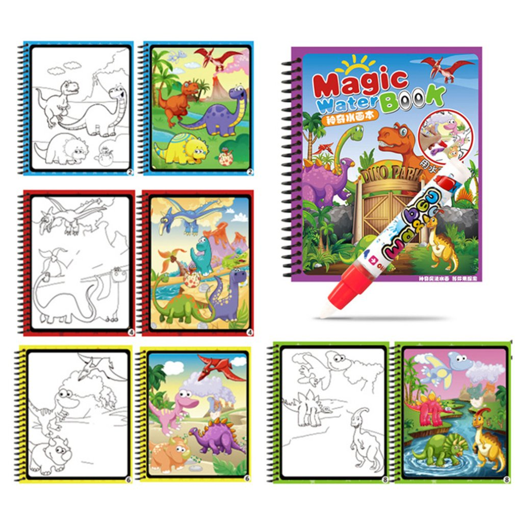 Drawing Toys Children Magic Graffiti Album Baby Water Painting Books Learning Reusable Painting Board