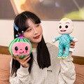 Heißer verkauf CoCoMelon Plüsch Spielzeug Animation JJ Plüsch Puppe Wassermelone Puppe kinder Geschenk Super Baby JoJoed