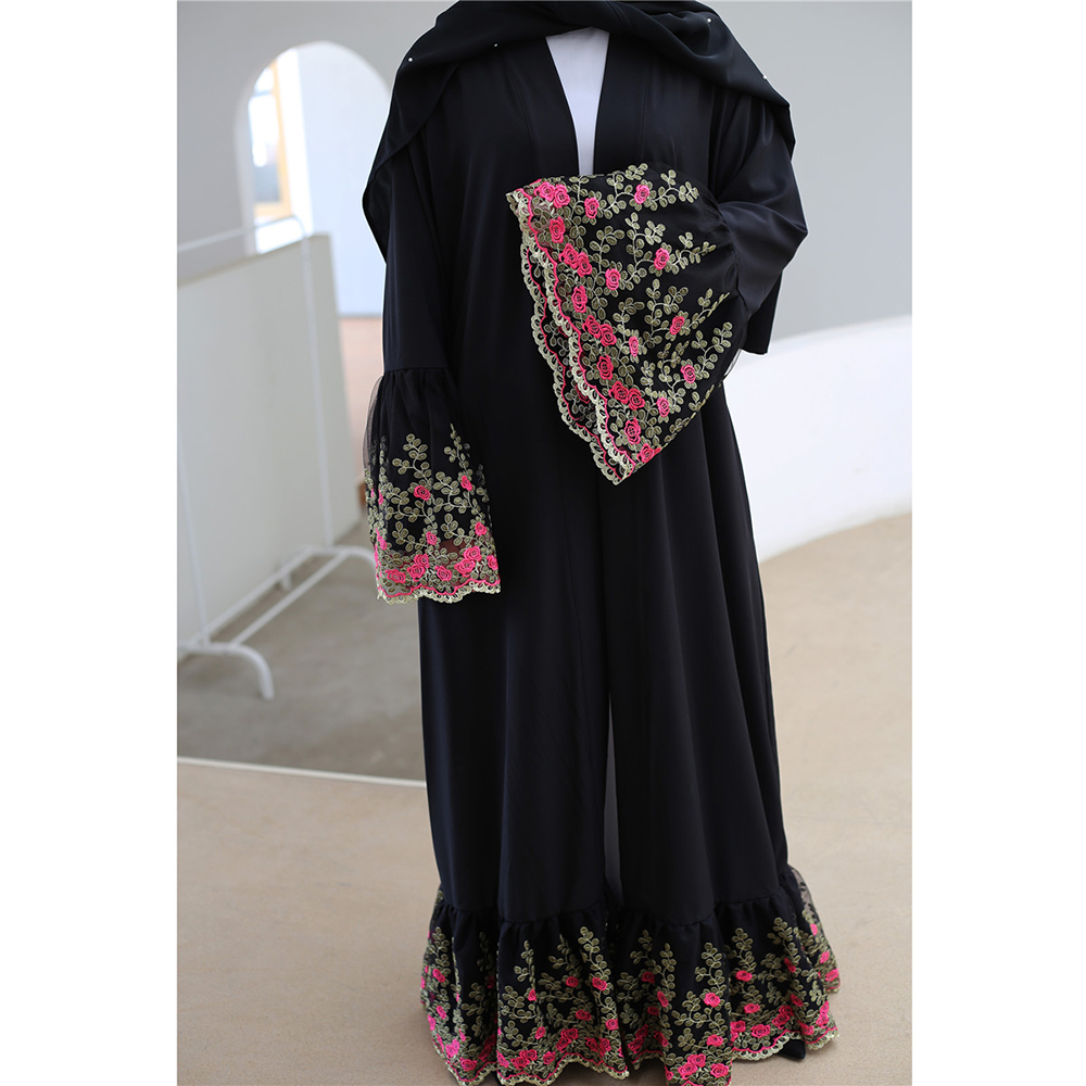 Ramadan Kimono Abaya Dubai Hijab Muslim Dress Women Caftan Turkish Islamic Clothing Kaftan Robe Musulman Bangladesh Abayas Islam