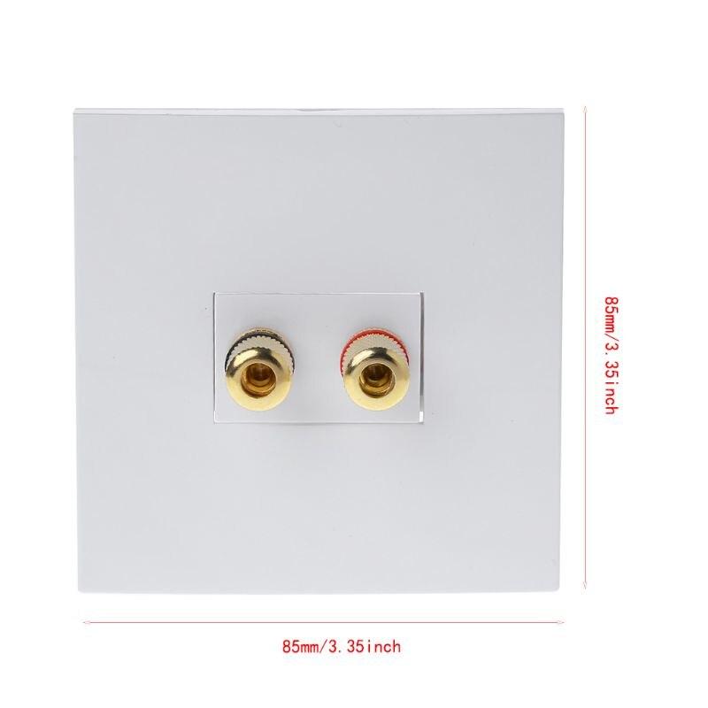 Аудио панельные Клеммы 2 привязки пост левый и правый каналы динамик разъем настенная розетка Банан Джек