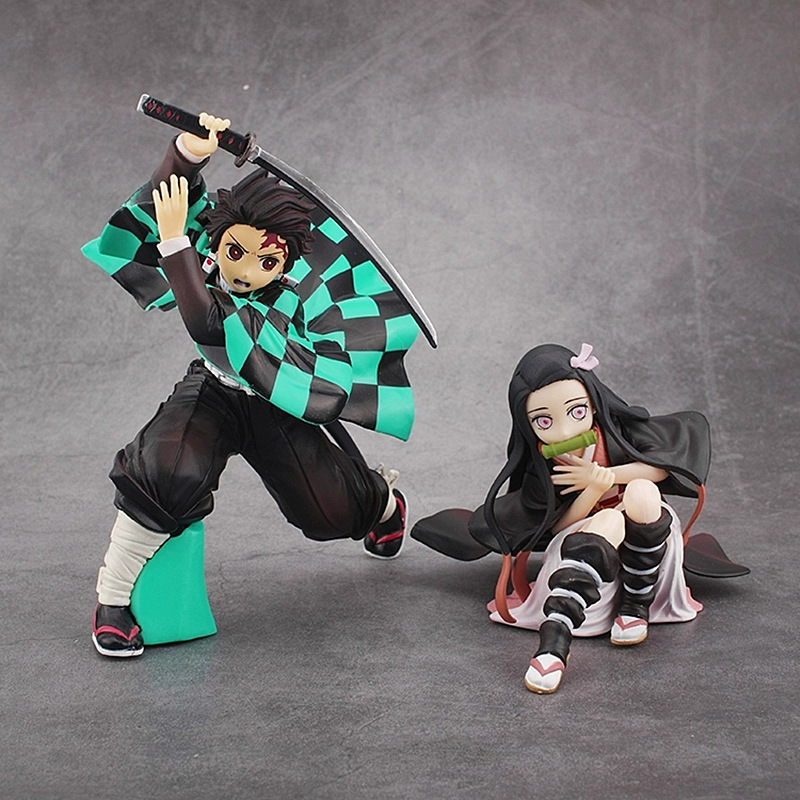 15cm Japan Anime Demon Slayer Kimetsu No Yaiba Figure Kamado Tanjirou Nezuko Hashibira Inosuke PVC Action Figure Model Toys