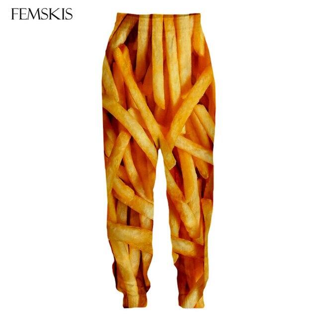Джоггеры femski с рисунком картофеля фри тренировочные штаны