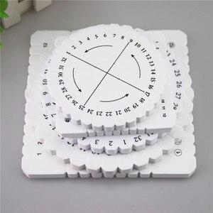 Круглая квадратная пластина Jade Macrame Kumihimo диск плетеный шнур браслет ручной работы Schijf диск DIY материалы инструменты ds5-P