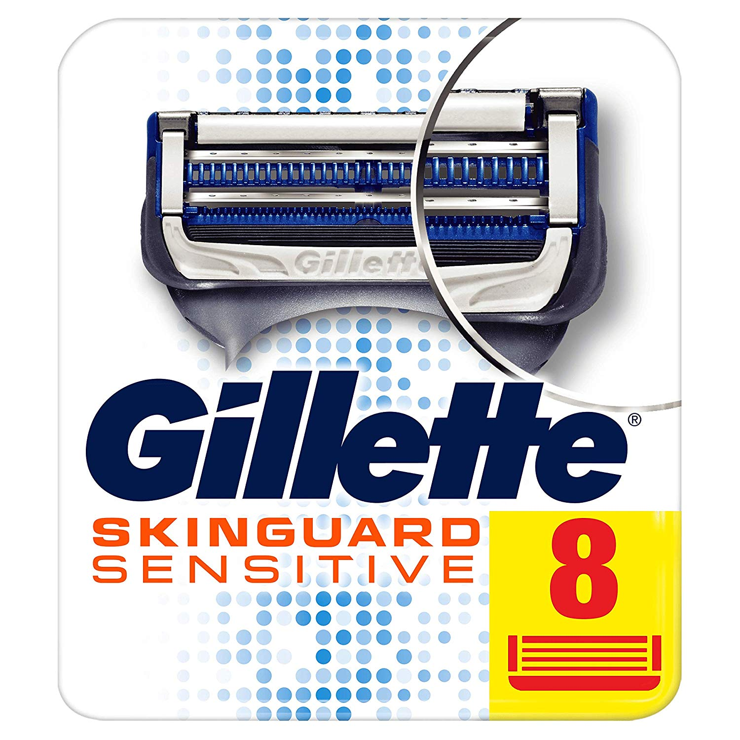 Original Gillette SKINGUARD Fusion Razor Blades Men Sensitive Shaver Razor Blade Black Technology Smooth Shaving Experience