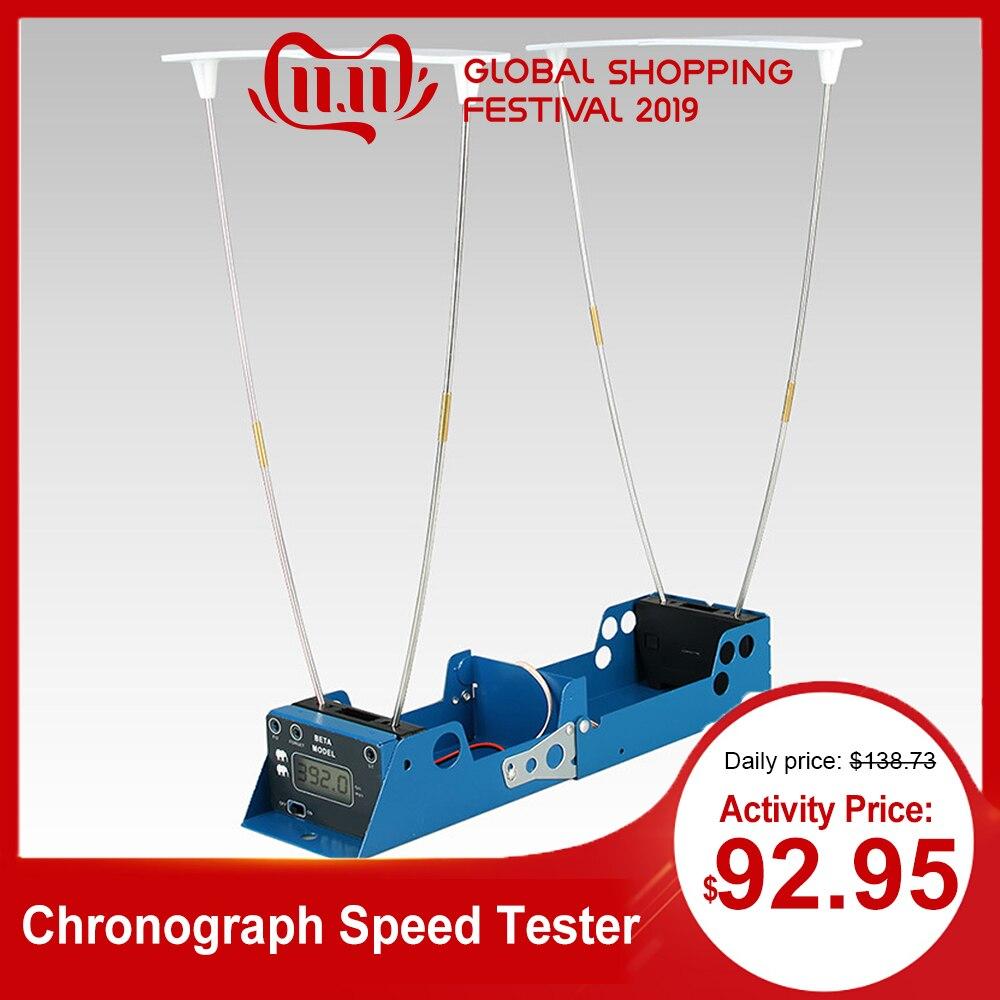 LCD Display Measure Bullet Velocity Shooting Hunt Timer Foldable For Chronograph Speed Tester Velometer Speedometer + 2 Sensors