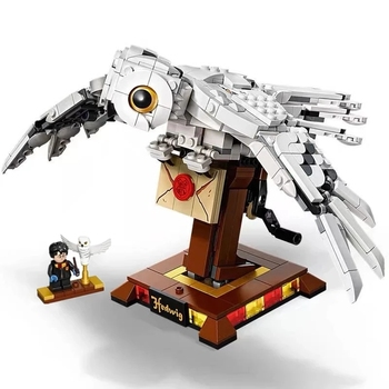 NEW 2020 Magic Movie Potter Strigiformes Owl Wings Building Blocks Kits Bricks Set Classic Model Kids Toys For Children Gift image