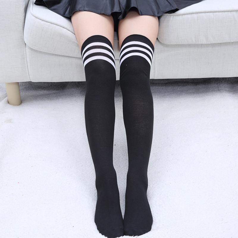 Sexy Socks Striped Long Socks Women Long Stockings Warm Thigh High Ladies Girls New Fashion Striped Knee Sock 2020