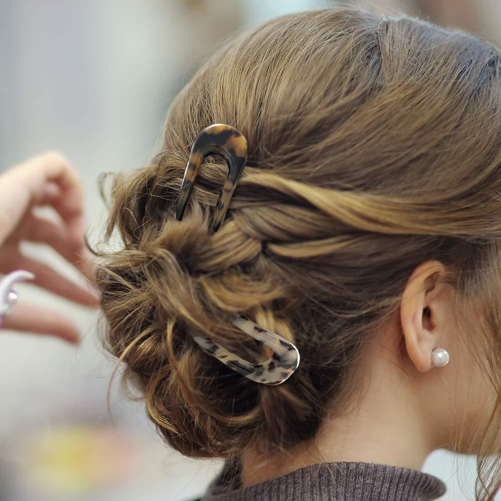 U şekilli saç Pin sopa fransız tarzı U şekli saç klipleri kaplumbağa kabuğu U sopa pimleri kadınlar kızlar için saç araçları aksesuarları