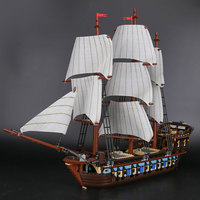 22001 Imperial Flagship Building Blocks Set Pirates Sailing Ship DIY Model Bricks Compatible with Legoinglys 10210