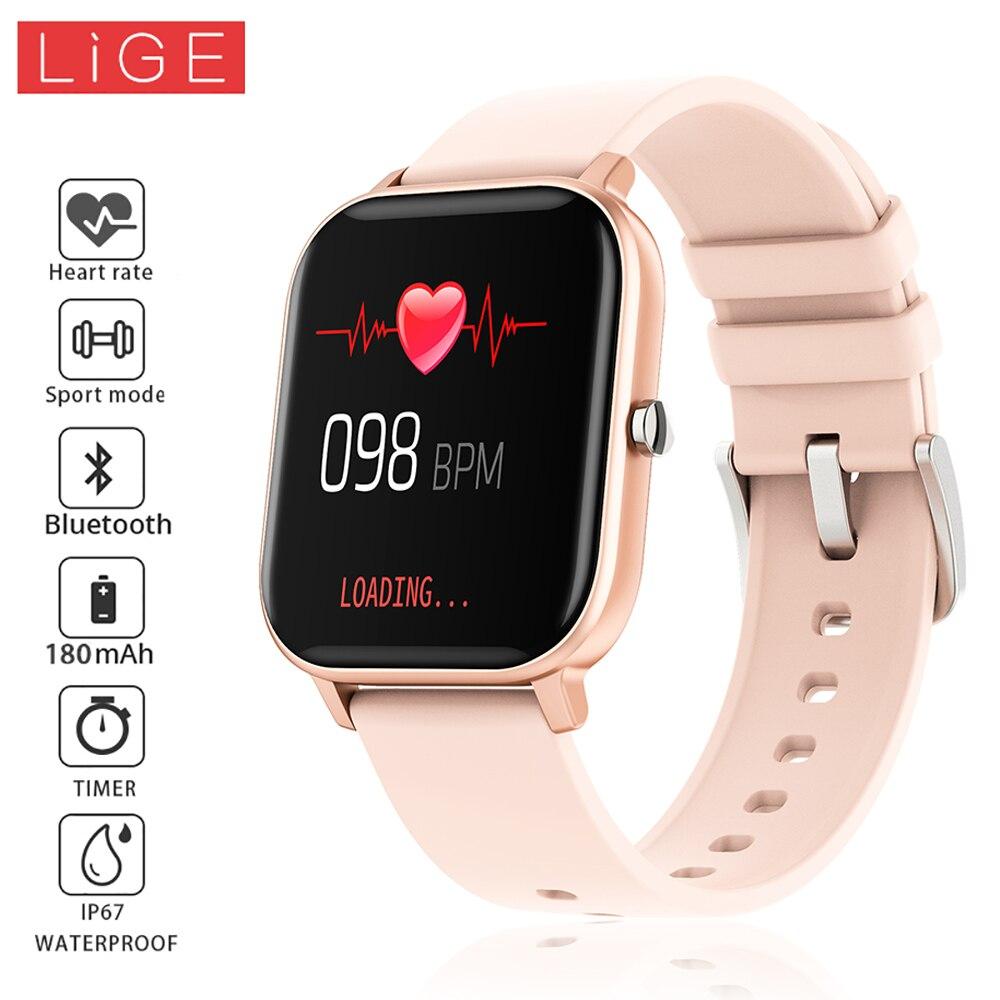 2019 Nieuwe 1.4 Inch Slimme Horloge Mannen Full Touch Fitness Tracker Bloeddruk Smartwatch Vrouwen Gts Smartwatch Voor Iphone/ xiaomi