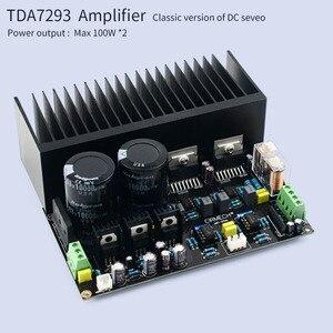 Image 2 - UNISIAN TDA7293 DC servo Auido Power Amplifier board 100W+100W TDA 7293 OP07 NE5534 High Power Amplifiers for Home audio system