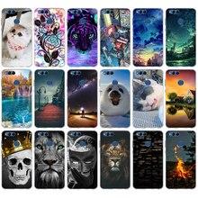 цена на Case For Huawei Honor 7X Cover Soft Silicon For Huawei Honor 7X Case Back Cover For Fundas Huawei Honor 7X 7 X X7 Phone Cases