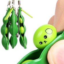 Stress-Toy Peas Beans Keychain-Pop Squeeze-Bean It Fidget Figet Decompression Adult ZK22