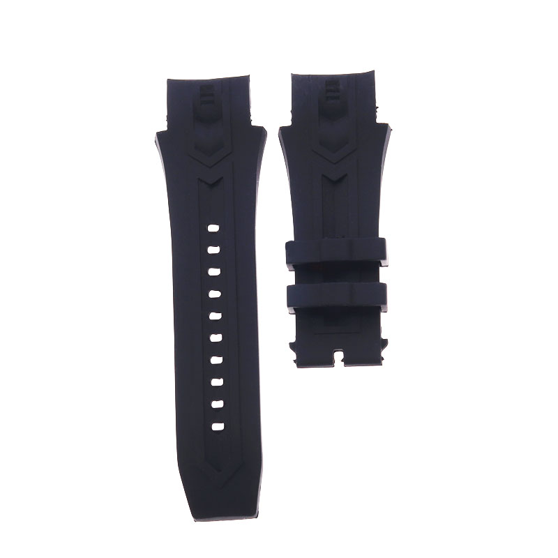 High quality 35mmx26mm black silicone watch strap for Invicta Bolt men watchband bracelet belt sports waterproof Accessories